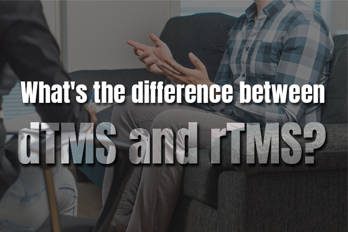 Differences between rTMS and dTMS therapy